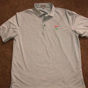 GREEN Jubilee Stripe Summer Comfort Jersey Polo
